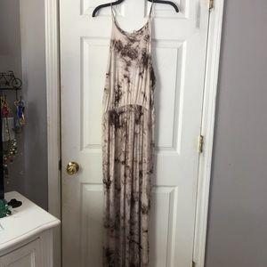 Beautiful bohemian tie-dye maxi dress